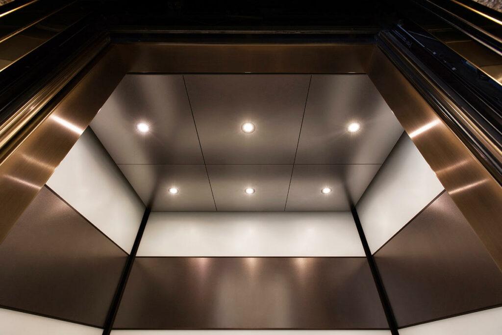 Elevator ceiling design