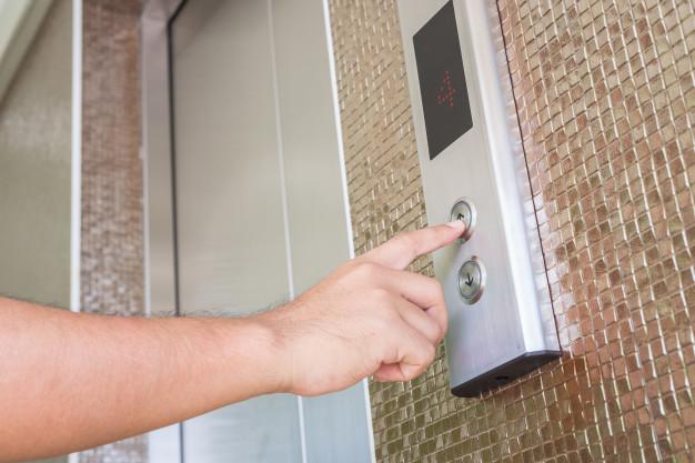 Silver Elevator Button