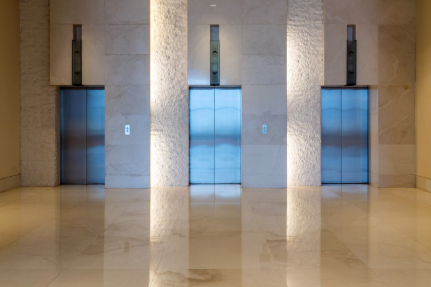 Three Elevator Doors
