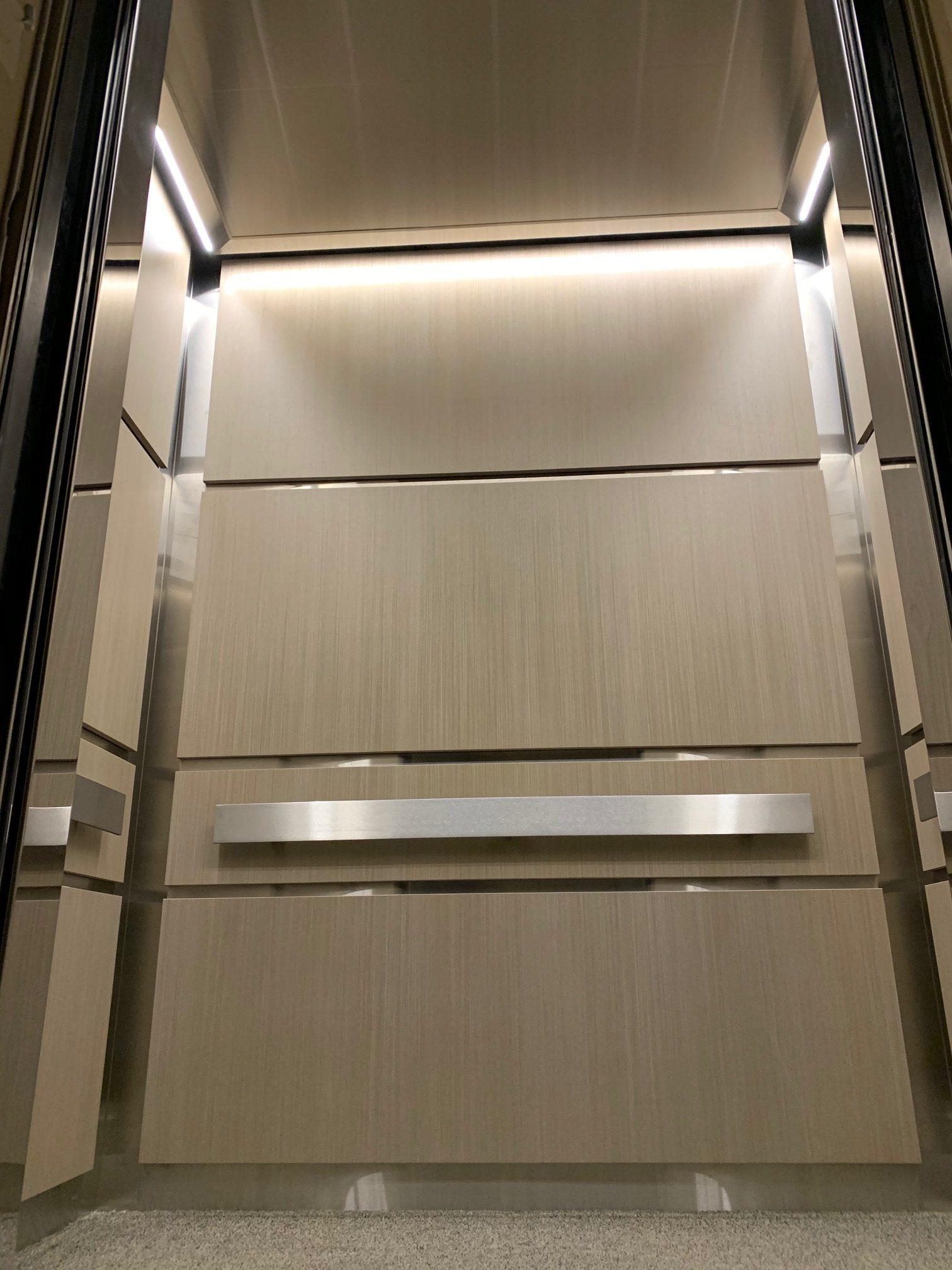 modern elevator interior
