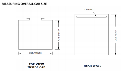 Measuring Overall Cab Size