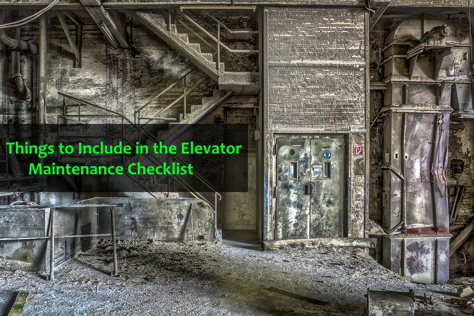 Elevator Maintenance Checklist
